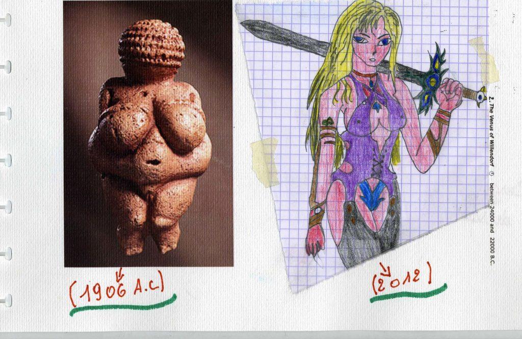Laurent interpreteert de prehistorische Venus.